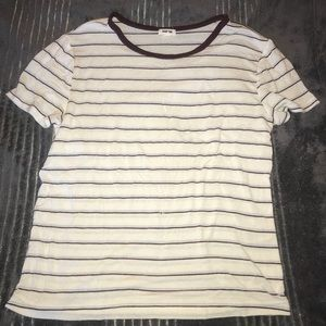 GARAGE striped tee shirt